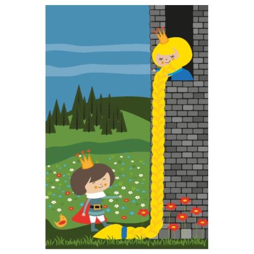 Rapunzel und der Prinz - Märchenposter - Poster 20x30 cm