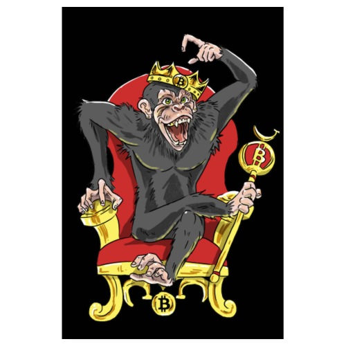 Bitcoin Monkey King - Beta Edition - Poster 20x30 cm