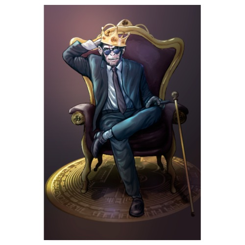 Bitcoin Monkey King - Gamma Edition - Poster 20x30 cm