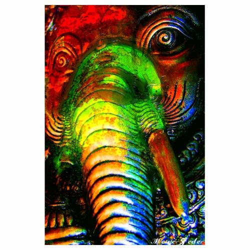 2 3 DE Ganesha looking - Poster 20x30 cm