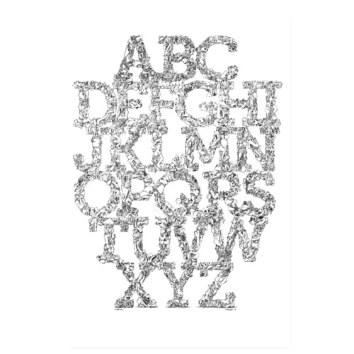 The FRTZN Alphabet Condensed - Poster 20x30 cm