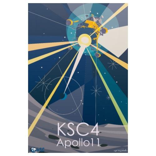 Poster KSC4 Apollo 11 (by Go Miyazaki)