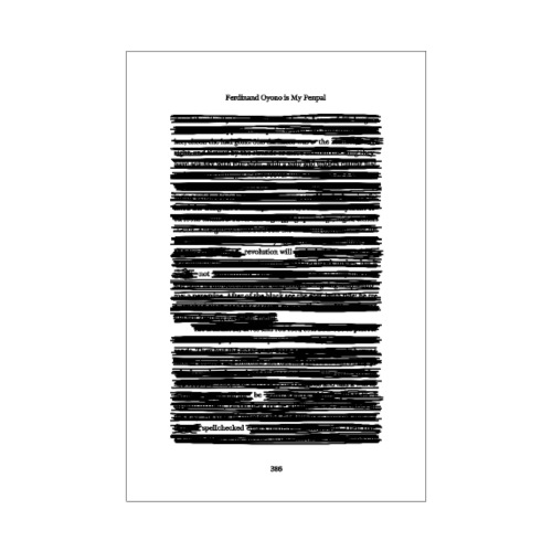 Ferdinand Oyono is My Penpal - Poster 20x30 cm