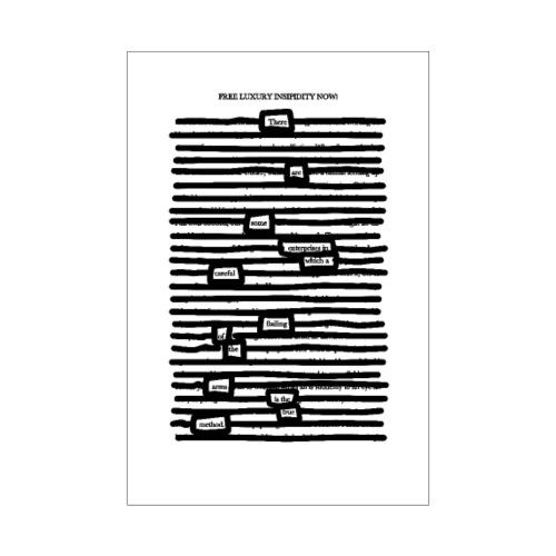 Free Luxury Insipidity Now! - Poster 20x30 cm