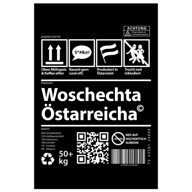 Vorschau: Woschechta Österreicha - Poster 20x30 cm