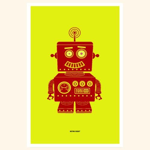 Retro Robot - Poster 8 x 12 (20x30 cm)