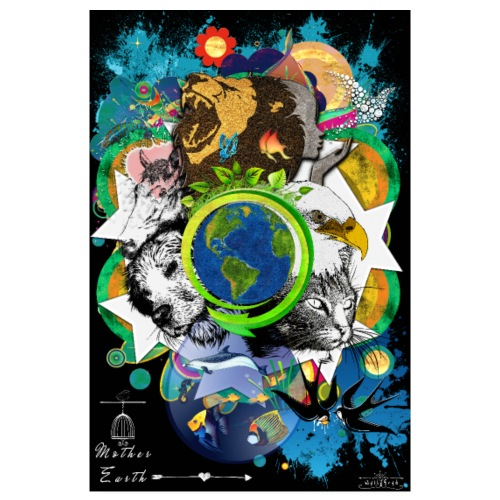 Poster- Mother Earth (us) -by T-shirt chic et choc - Poster 20 x 30 cm