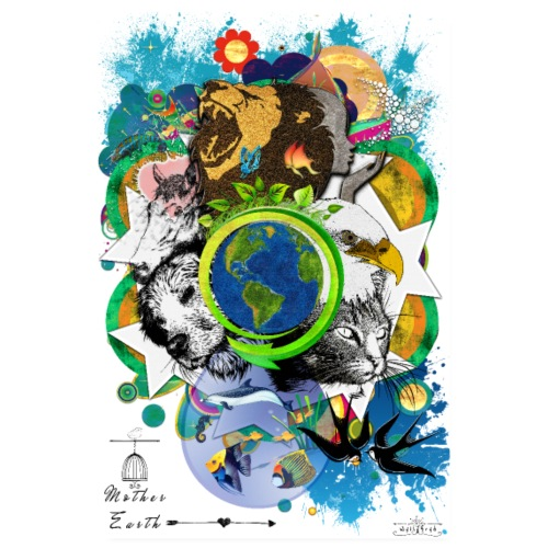 Poster - Mother Earth (us) -by- Tshirtchicetchoc - Poster 20 x 30 cm