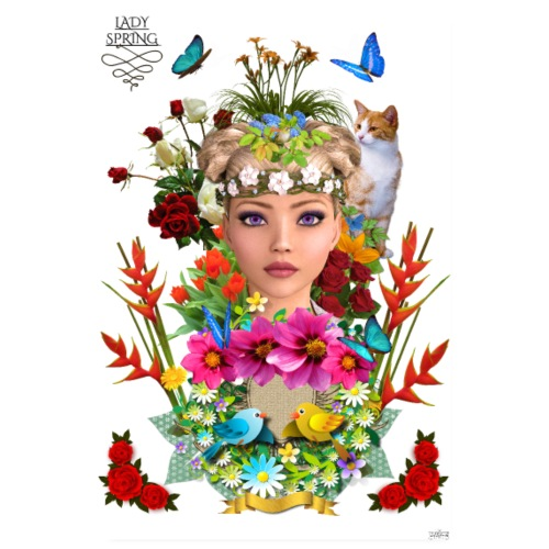 Poster - Lady spring -by- T-shirt chic et choc - Poster 20 x 30 cm