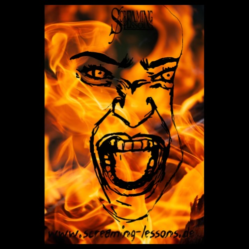 Screaming Fireface - Poster 20x30 cm