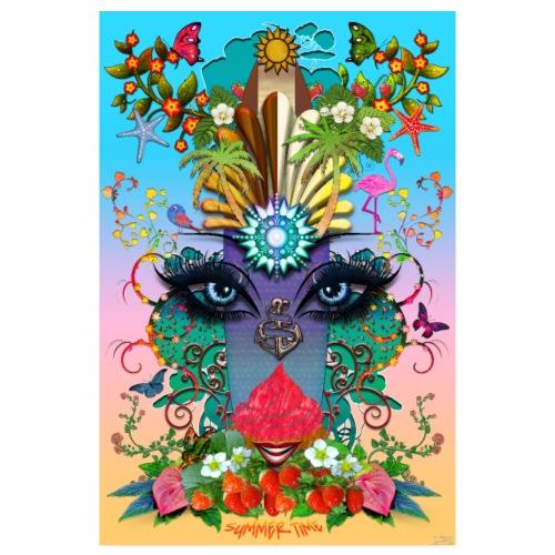 Poster - Summer Time - couleur tropique - Poster 20 x 30 cm