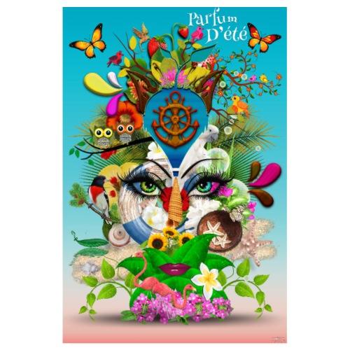 Affiche - Parfum d'été - couleur bleu céleste - Poster 20 x 30 cm