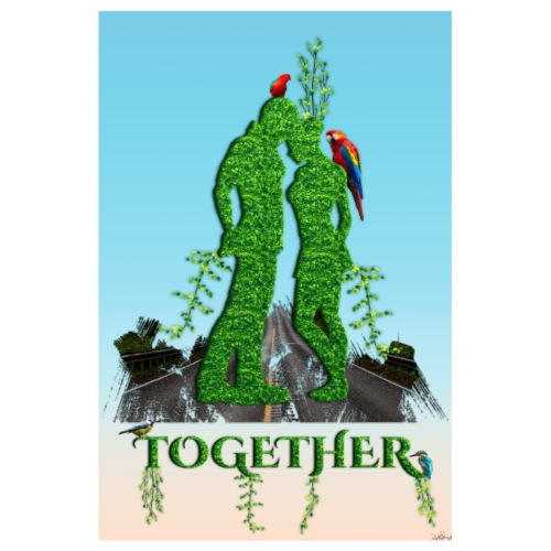 Poster - Together love nature - Poster 20 x 30 cm