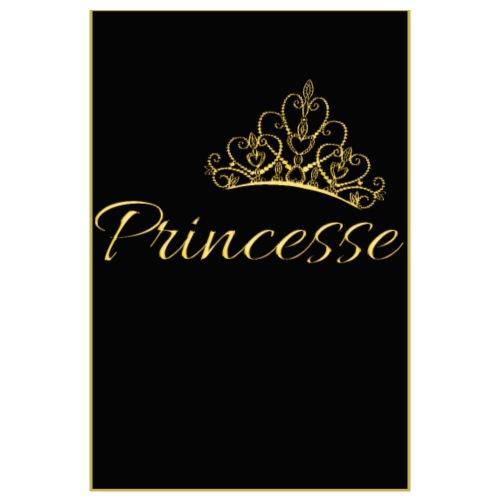 Poster - Princesse couleur or - Poster 20 x 30 cm