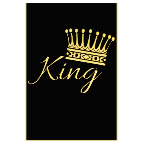 Poster - King couleur or - Poster 20 x 30 cm