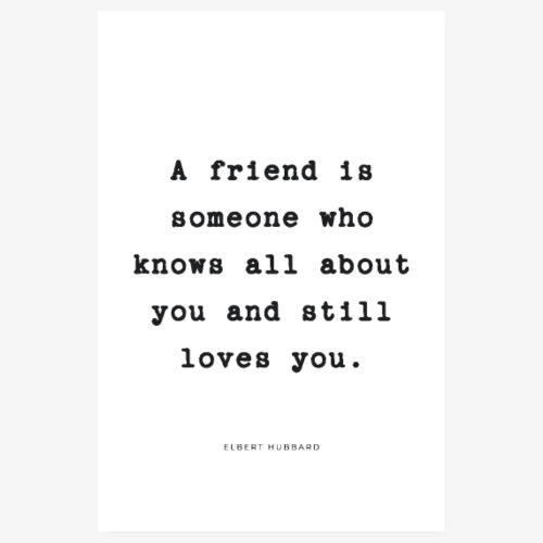 Friendship Quote - Poster 20x30 cm