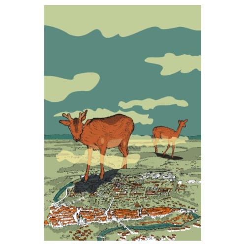 Bern mit Reh - Poster 20x30 cm