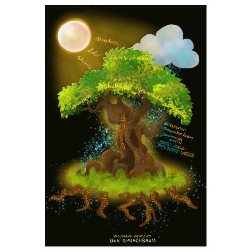 Der Sprachbaum - Poster 20x30 cm