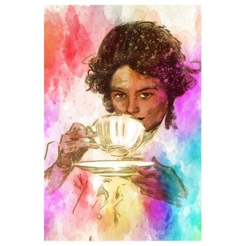 Caffee 21 Odpoczynek przy kawie - Plakat o wymiarach 20x30 cm