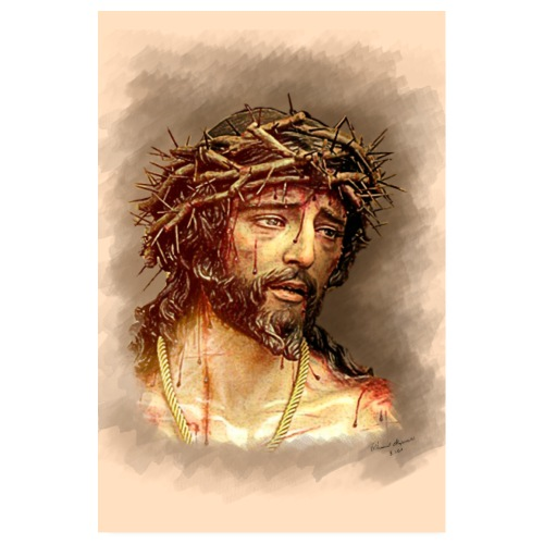 Jesus wearing a crown of thorns - Poster 8 x 12 (20x30 cm)