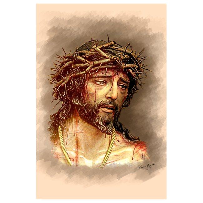Jesus wearing a crown of thorns