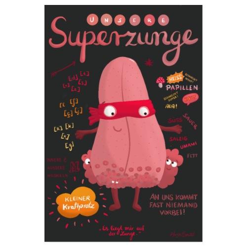 Superzunge *Anatomy Cartoon Art* - Poster 20x30 cm