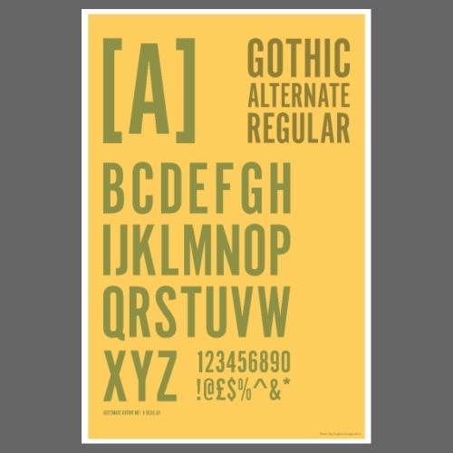 Gothic Alternate Regular Typography Poster