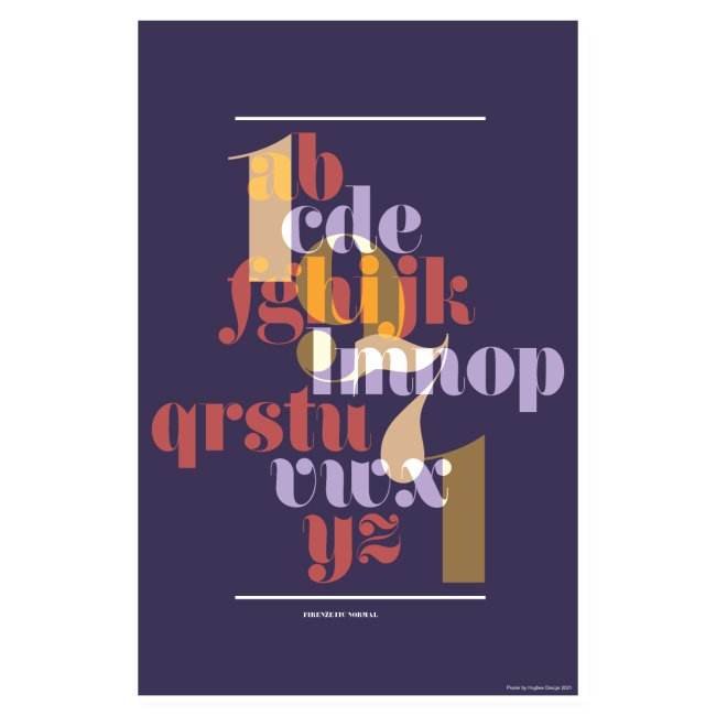 Firenze ITC Normal Typography Poster