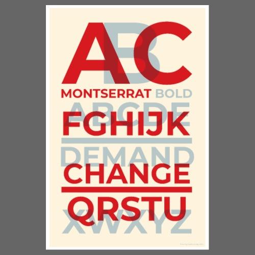 Montserrat Bold Typography Poster