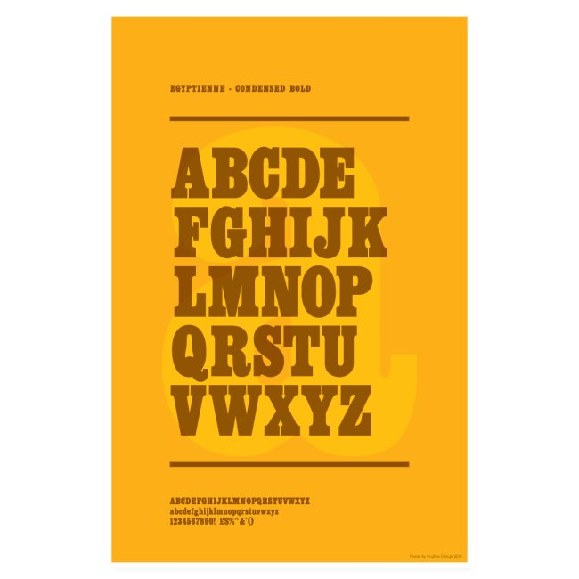 Egyptienne Condensed Bold Typography Poster