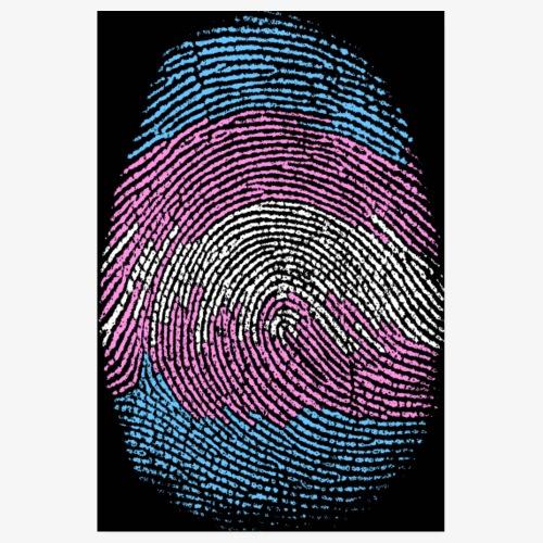Huella dactilar Trans - Póster 20x30 cm