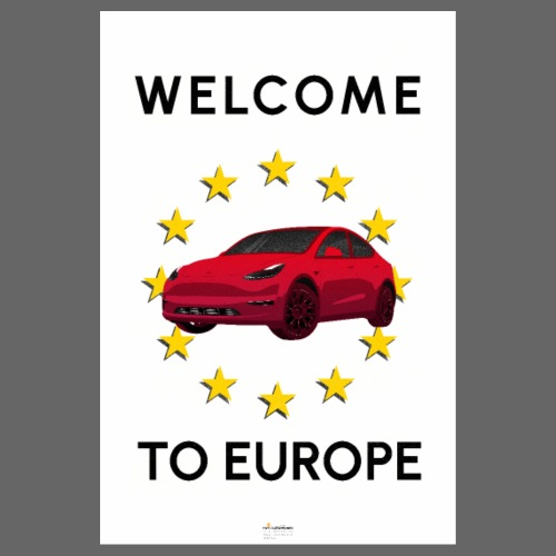 Welcome to Europe model Y! - Póster 20x30 cm