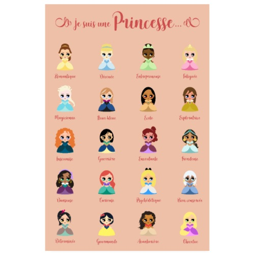Je suis une princesse - Poster 20 x 30 cm