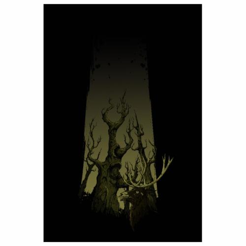 Zombie cerf - Poster 20 x 30 cm