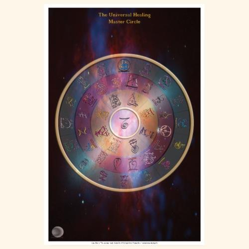 The Universal Healing Master Circle - Poster 20x30 cm