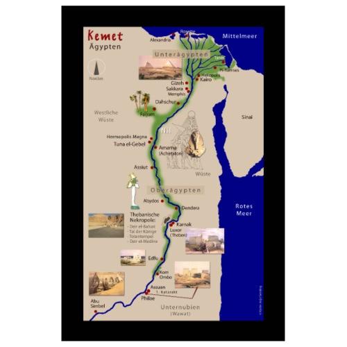 POSTER: Landkarte KEMET (Altes Ägypten) - Poster 20x30 cm