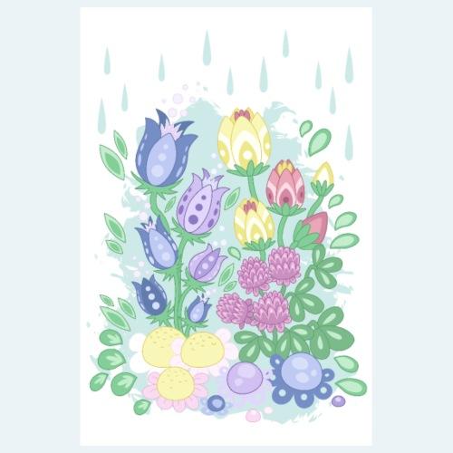 Ängsblommor - Cartoon Flora no 2 - Poster 20x30 cm
