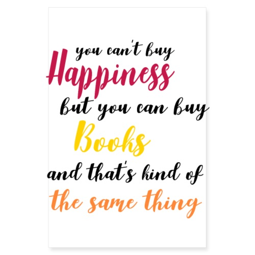 Happiness poster - Poster 8 x 12 (20x30 cm)