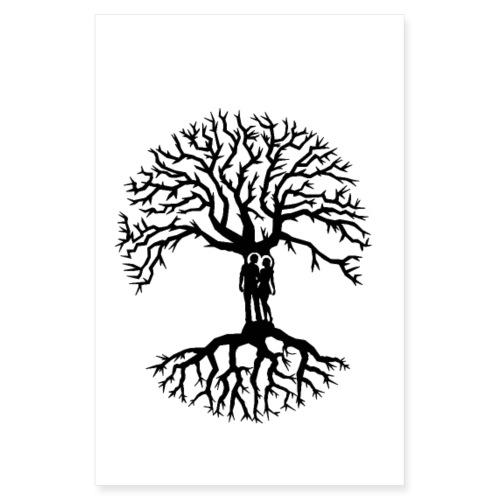 couple arbre de vie zen porte bonheur amour tree - Poster 20 x 30 cm