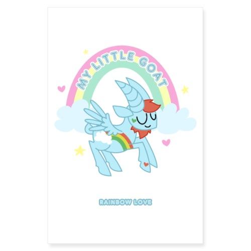 Rainbow Love - My Little Goat - Poster 20x30 cm