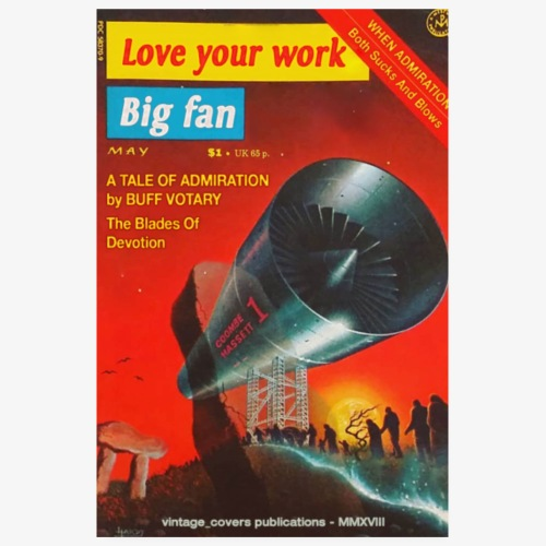 Love Your Work Big Fan Vintage Covers Poster Shop