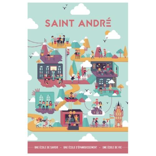 Poster Vie À Saint André 104 - Poster 20 x 30 cm