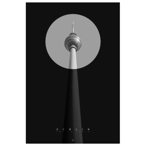 Berlin - TV Tower - Poster 20x30 cm