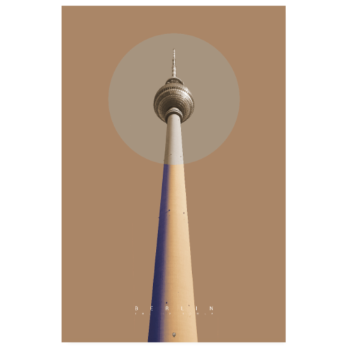 Berlin - The TV Tower - Poster 20x30 cm