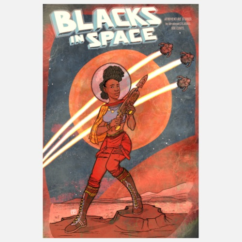 Blacks in Space // PULP Version - Poster 20 x 30 cm
