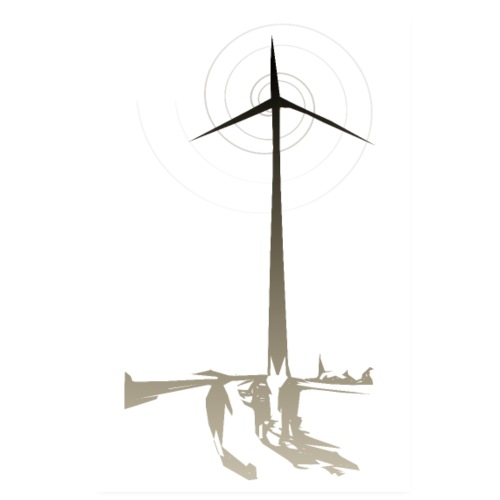 Walking to Windturbine - Poster 20x30 cm
