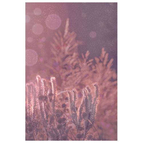 Traumhaft romantisches Bild Flora mit Glitzer