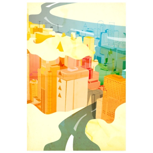 Wolkenstadt - Poster 20x30 cm