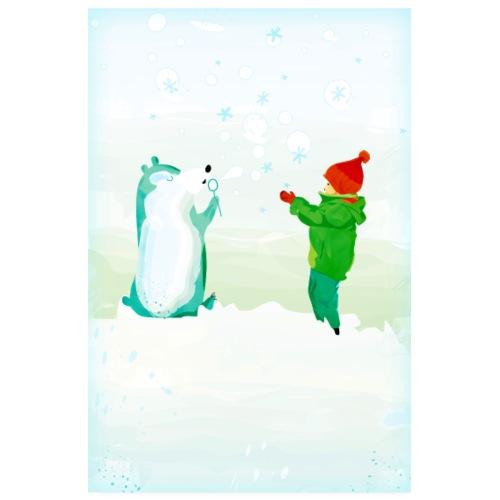 Schneefreunde - Poster 20x30 cm