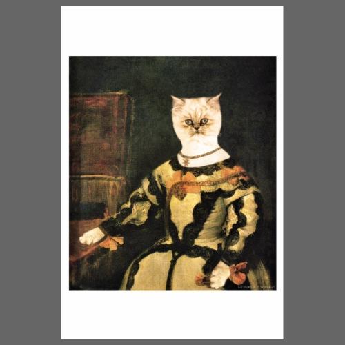 Chatte en costume, d'après un tableau de Vélasquez - Poster 20 x 30 cm